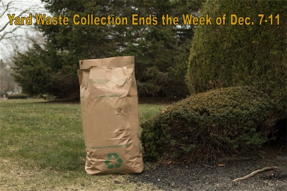 Yard Waste Collection Ends the Week of Dec. 7-11