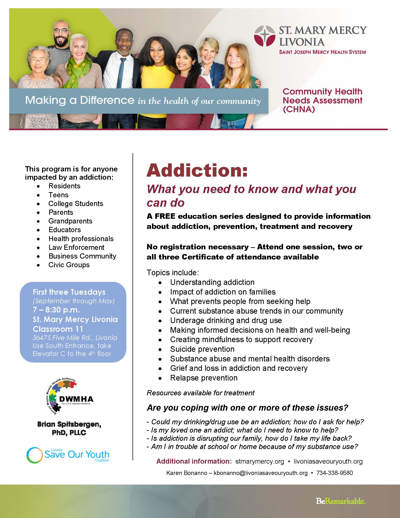 Addiction Forum Flyer