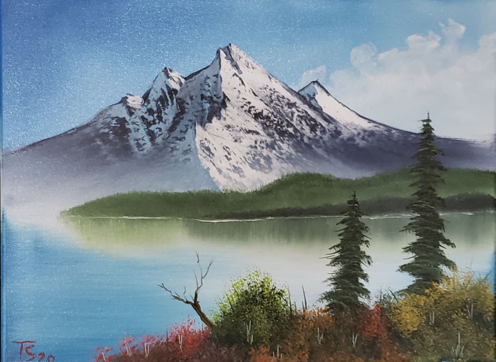 Bob Ross Painting - Mountain Landscape - Friday, August 14, 2020