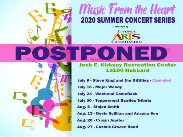 Music From The Heart Postponed